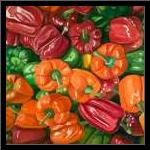 A LOT OF PEPPERS art print poster with simple frame