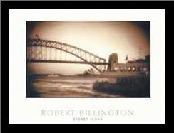 Sydney Icons art print poster with simple frame