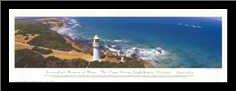 Cape Otway Lighthouse art print poster with simple frame