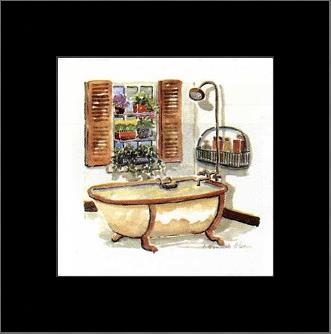 Bath Tub Series IV art print poster with simple frame