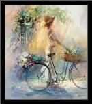 Go for a ride art print poster with simple frame