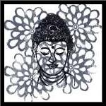 Buddha IV art print poster with simple frame