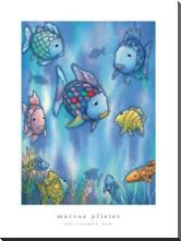 Rainbow Fish To The Rescue art print poster with block mounting
