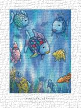 Rainbow Fish To The Rescue art print poster transferred to canvas