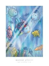 Rainbow Fish To The Rescue art print poster with laminate