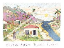 Island Sunset art print poster with laminate
