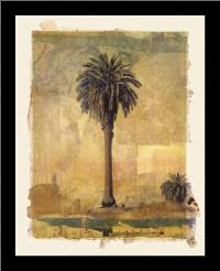 Palm Study #1 art print poster with simple frame