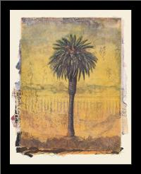 Palm Study #2 art print poster with simple frame