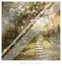 Tuscan Walkway art print poster with laminate