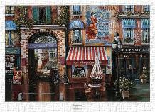 Passage Fontaine art print poster transferred to canvas
