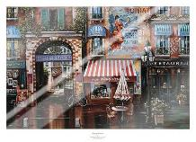 Passage Fontaine art print poster with laminate