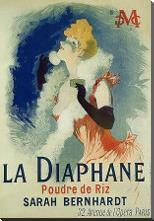 La Diaphane art print poster with block mounting