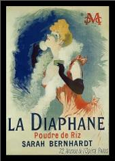 La Diaphane art print poster with simple frame