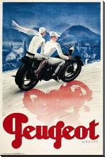 Peugeot art print poster with block mounting