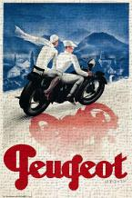 Peugeot art print poster transferred to canvas
