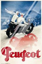 Peugeot art print poster with laminate