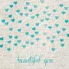 Beautiful You in Blue art print poster transferred to canvas