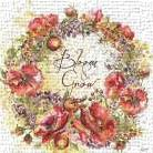 Bloom and Grow Wreath  art print poster transferred to canvas