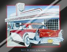 Route 66 Diner art print poster with laminate