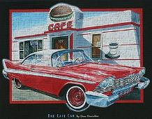 Cafe Car art print poster transferred to canvas