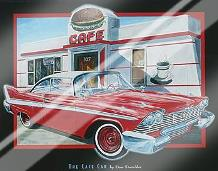 Cafe Car art print poster with laminate