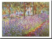 Garden at Giverny art print poster with block mounting