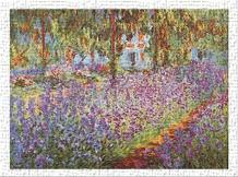 Garden at Giverny art print poster transferred to canvas