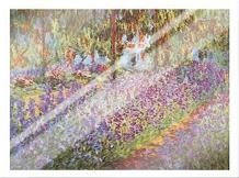 Garden at Giverny art print poster with laminate