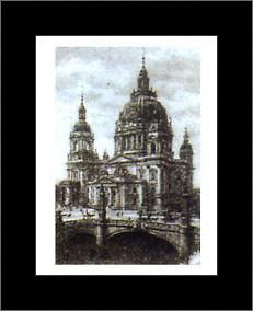 Berlin Dome art print poster with simple frame