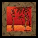 Sun Tribe II art print poster with simple frame