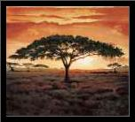 Masai Tree art print poster with simple frame