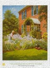 Betty in Garden art print poster transferred to canvas
