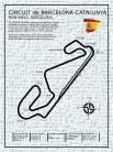 Barcelona-Catalunya Circuit art print poster transferred to canvas