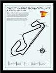 Barcelona-Catalunya Circuit art print poster with simple frame
