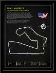 Road America BL art print poster with simple frame
