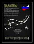 Sochi Autodrom Russia BL art print poster with simple frame