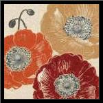 A Poppys Touch III art print poster with simple frame