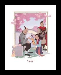 Mulan art print poster with simple frame