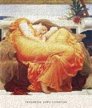 Flaming June art print poster transferred to canvas