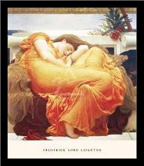 Flaming June art print poster with simple frame