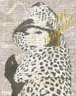 Fashion Week Paris Halftone II art print poster transferred to canvas