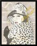 Fashion Week Paris Halftone II art print poster with simple frame