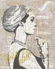 Fashion Week Paris Halftone III art print poster transferred to canvas