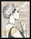 Fashion Week Paris Halftone III art print poster with simple frame