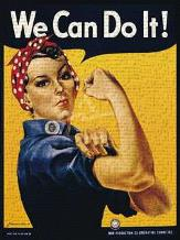 We Can Do It! art print poster transferred to canvas
