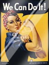 We Can Do It! art print poster with laminate
