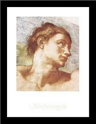 Sistine Chapel - Adam art print poster with simple frame