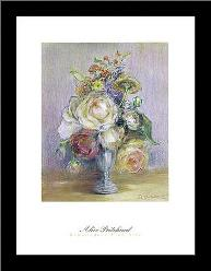 Rose Panache art print poster with simple frame
