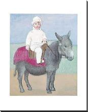 Paulo on a Donkey art print poster with block mounting