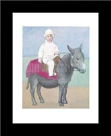 Paulo on a Donkey art print poster with simple frame